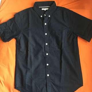 Global work 男裝 短袖恤衫 海軍藍 S size