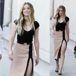 Slit-cut Two Tone Dress