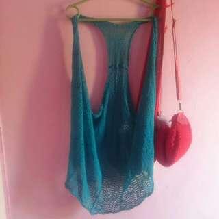 Blue Vest Rajut Import
