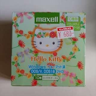 全新 未開封 經典日版 HELLO KITTY 磁碟