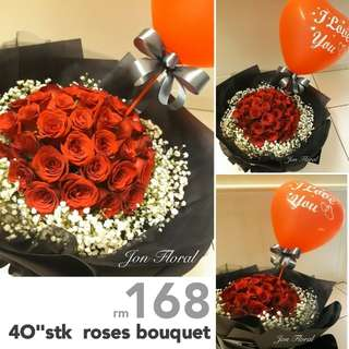 """40""""stk roses bouquet"""