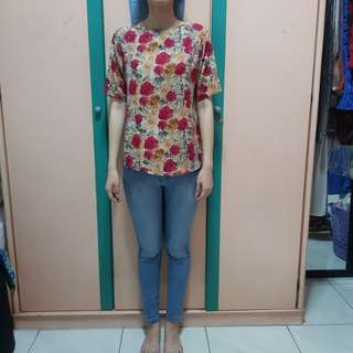 Rose Silk Top