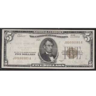 Currency Error Note