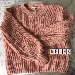 h&m pink sweater size s