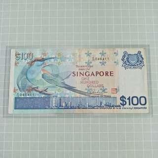 Singapore Bird Series $100 A/14 046411