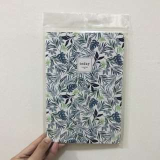 BNIP A5 Forest Leaf Leaves Print Lined Line Notebook Journal Diary Planner