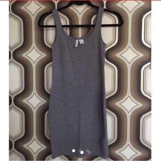 H&M Gray Bodycon Dress