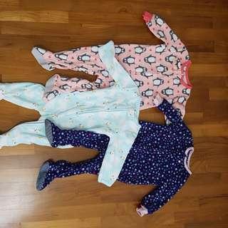Oshkosh fleece sleep suit sleepsuit Carter's