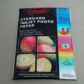 CLEARANCE SALES - 20 PCS (1 PACKET)4R 210G/M2  THICK STANDARD INKJET GLOSSY PHOTO PRINTER PAPER + WATER RESISTANT. RETAIL $3. NOW 6 FOR $10 INCLUDE NORMAL MAIL.
