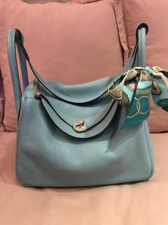 💎Hermes Lindy 30 3P blue atoll💎