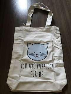 Cute Canvas Tote Bag