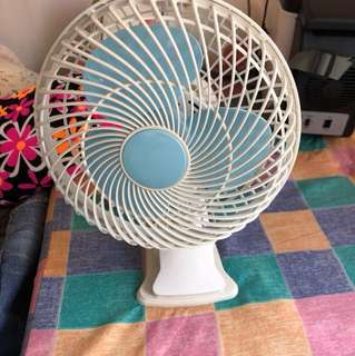 Brand New Blue and White Small Clip or Stand one Desk Fan