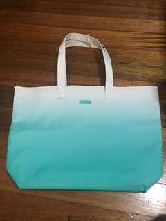 Aqua Gradient Tote Bag from Clinique