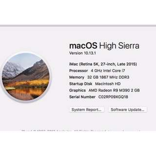 iMac desktop computer with Retina 5k display