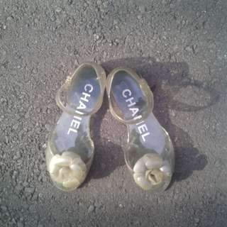 Chanel Camellia Jelly Shoes 36 AUTHENTIC