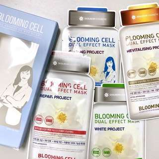 BNIB Seolreim Blooming Cell Dual Effect Mask Pack of 4 (FREE registered mail)