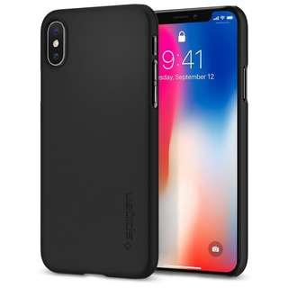 Spigen Air Skin Semi-Transparent Case for IPhone X Black