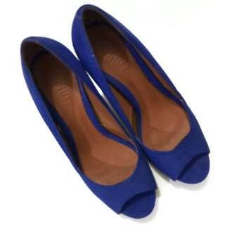 Schutz blue heels