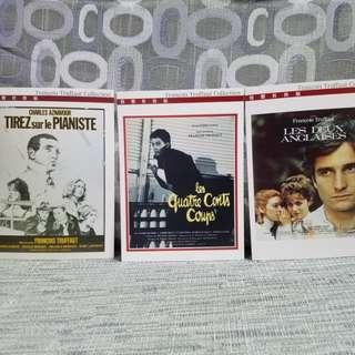 🆕🈹法國大導演杜魯福電影系列明信片Francois Truffaut Collection Postcard (1套11張)
