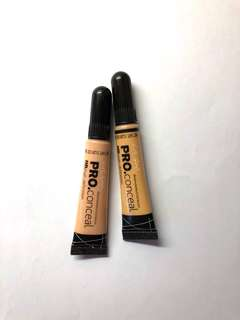 LA Girl Pro Conceal in Light Ivory and Yellow Corrector