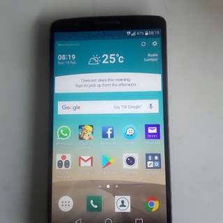 (SMART LG G3 D855) Salam 1 malaysia!!! 9/10 used 4G LTE Open swap only.. Prefer android 5.5 screen 3g/32gb