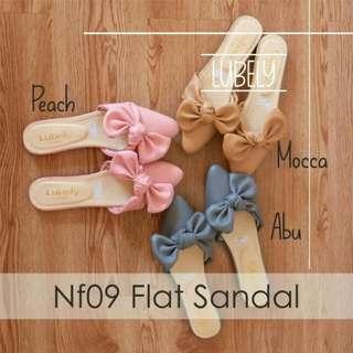 NF09 sepatu sandal wanita pita ribbon