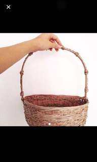 Handmade Basket in pink colour