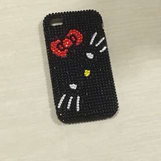 Apple iphone 4 case sanrio hello kitty 閃石電話殼