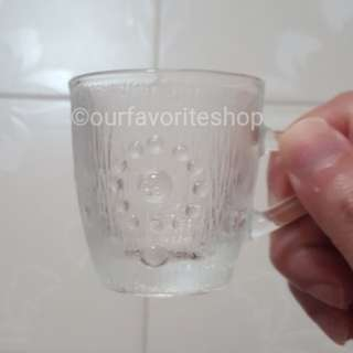 Vintage Tear Drop Mini Glass Mug