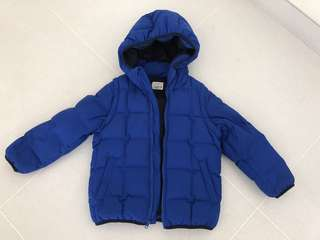 Boy's Winter Jacket blue Removable sleeves