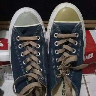 TERMURAH. Sepatu converse warna navy. CT OX DRESS BLUES.