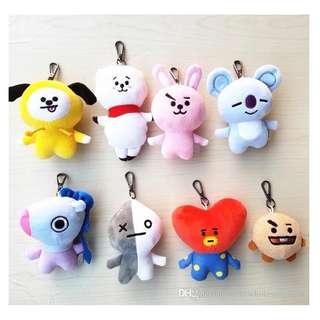 BTS BT21 Keychain Plush Doll Pendant