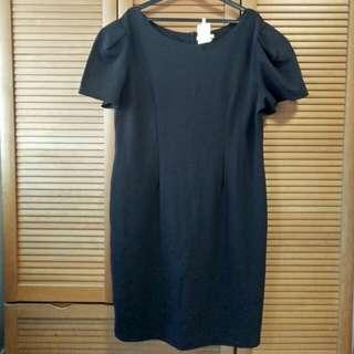 DramaQueen Black Puffy Sleeves Dress (XL-XXL)