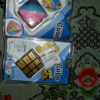 Mirror cube, pyraminx, rubics cube