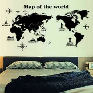 Sticker Wallpaper Dinding World Map
