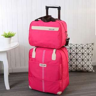Travel Luggage Bag w/Trolley