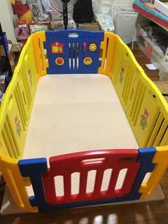 Play yard with floor mat for baby (as new)