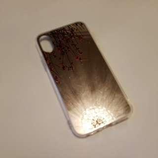Iphone x dark sliver mirror case