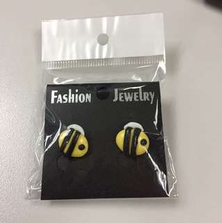 Polymer Bees Stud Earrings