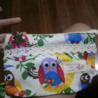 Blue Magic Owl Pouch