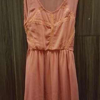 Orange semi-formal dress