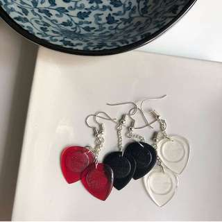 Alice electric guitar pick earrings