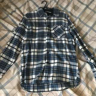 H&M Checkered Long Sleeves Polo