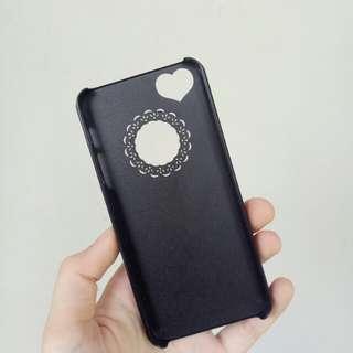 Case Iphone 5/5s Flower Heart Black
