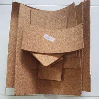 Corkboard pieces