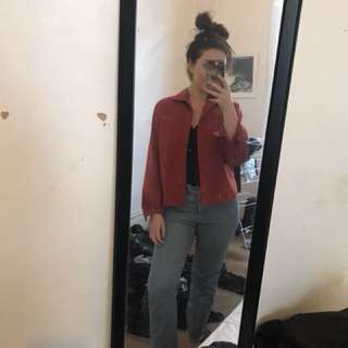 VINTAGE RED SUEDE JACKET