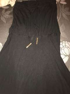 Black long beach dress