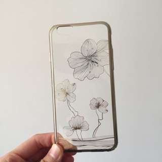 I phone 6s透明印花閃石電話殼