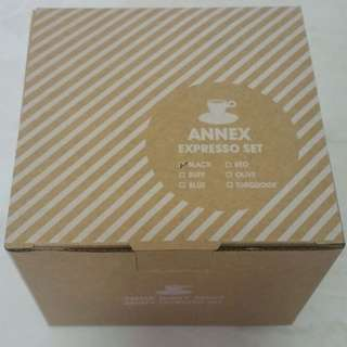 FREE! Annex Espresso Cup with saucer (black)