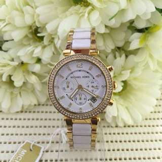 MK Ceramic Gold Watch